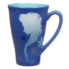 NEW DISNEY STORE ORIGINAL ANNA & ELSA SILHOUETTE FROZEN MUG LATTE COFFEE TEA CUP
