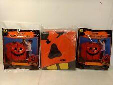 Set 3 Stuff-A-Pumpkin Jack O'Lantern Feuille Sac Halloween Décoration h228