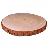 Natural Wood Log Slice Tree Bark Rustic Table Centerpiece Cake Stand EXTRA LARGE