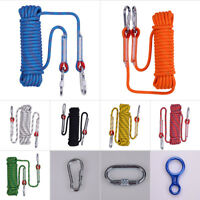 10M 12KN Safety Climbing Tree Rock Static Sling Rappelling Rope Cord Equipment