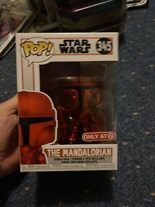 Funko Pop! Star Wars The Mandalorian 345 Red Chrome Target Exclusive