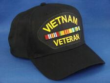 Vietnam Veteran Patch On A Black Hat / Cap