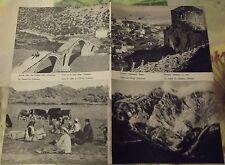 1962 Carte & Image Pays Balkaniques Agriculture ôsumi ,Durazzo,massif du Jablani