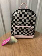 Betsy Johnson's Checkered Heart Clear Transparent Back Pack