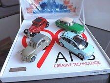 COFFRET 90 ANS de CITROEN 4 VOITURES DS 2CV TRACTION C3 COLLECTION NOREV 1/43