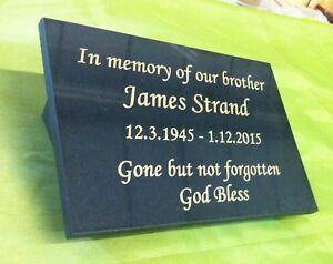 personalised granite memorial plaque grave marker