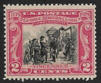 Mr B's US Stamp #651 MNH VF/XF OG 1929 George Rogers Clark -   FREE SHIPPING****
