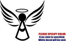 Angel with Halo Xmas Graphic Die Cut decal sticker Car Truck Boat Window 6""