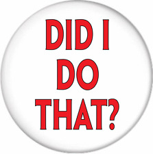 """STEVE URKEL DID I DO THAT? FAMILY MATTERS HALLOWEEN COSTUME 3"""" Pin Back Button"""