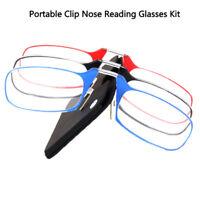 1Pc Portable Clip Nose Reading Glasses Kit Unisex Optics Presbyopic Ultra ThBDA
