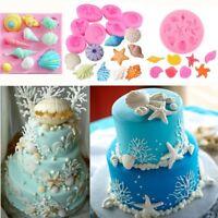 Silicone Mold 3D Ocean Sea Fondant Mould Candy Chocaolate Cake Decor Baking Mold