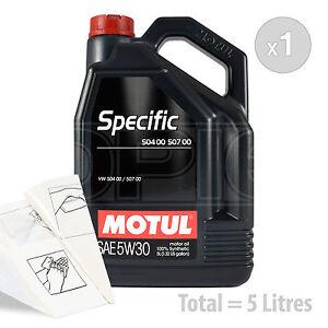 Car Engine Oil Service Kit / Pack 5 LITRES Motul VW SPECIFIC 504 00-507 0 5L