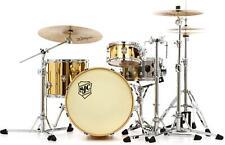 "Sjc Custom Drums Busker ""DeVille"" 3-piece Shell Pack - Mirror Brass Wrap"