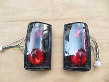 SMOKE BLACK TAIL LIGHT REAR LAMP ASSEMBLY for Toyota Hilux MK3 1989-1996 A pair