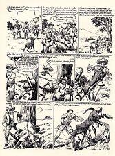 TESTAMENT DE BREWTON (GOSSELIN) PLANCHE ORIGINALE RED CANYON PAGE 13 SIGNEE