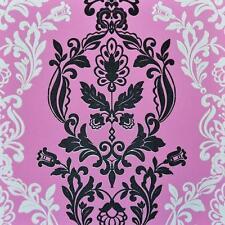 Vlies Tapete PS 03562-60 Barock Floral Ornamente Retro pink rosa weiß schwarz