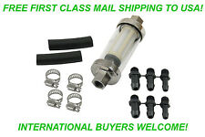 """EMPI 9065 GLASS IN-LINE FUEL FILTER 1/4"""" 5/16"""" 3/8 VW TRIKE BUGGY BUG GHIA THING"""