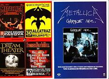 METALLICA 2 italian rare flyers PADOVA SLIPKNOT Garage INC. Corbijn Heavy Metal