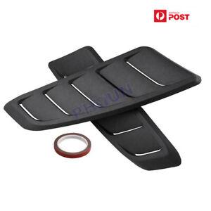 Pair Black Plastic Car Hood Vent Bonnet Scoop Cover Air Flow Intake Decor Items