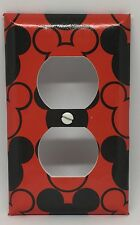 MICKEY MOUSE OUTLET COVER DISNEY CHILDREN & NURSERY MICKEY EARS RED BLACK