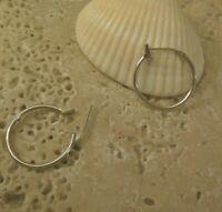 """925 Sterling Silver 6/8"""" inch HOOP Earrings A Great Gift Idea!"""