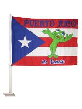 "12x18 Wholesale Lot 12 Puerto Rico Me Encanta! Frog Car Vehicle 12""x18"" Flag"