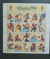 Atlanta Olympic Games Stamp Sheet; 1996 Scott# 3068; 20-32c