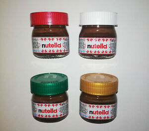 NUTELLA MINI GLASSES 30g COMPLETE SET OF 4 FERRERO ITALY CHRISTMAS 2020