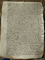 1697 LOUIS XIV royal notary manuscript document oncial calligraphy Incredible Vo