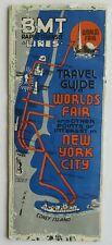 1939 New York World's Fair BMT Rapid Transit Subway Line Map Brochure Guide