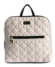 Luv Betsey Johnson Purse Backpack Bag Pink Quilted Heart Faux Leather