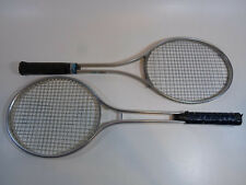 2 Tennis Racket Racquet Vintage Metal Aluminum Alloy Spalding Wilson Match Point