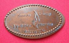 Nassau County Firefighters Museum elongated penny NY USA cent souvenir coin