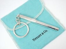 Vintage Tiffany & Co 1837 Sterling Silver Pen Key Ring Key Chain Germany w/pouch