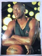 More details for vintage michael jordan poster nba basketball double sided magic johnson lakers