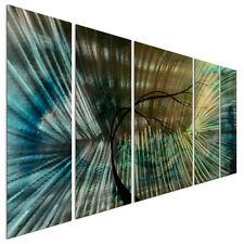 Metal Wall Art Hanging 5 Panel Set Abstract Modern Home Decor Hope Is Eternal