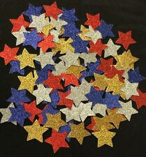 STAR Punchies -Adhesive Glitter Cardstock .5mm Scrapbooking Parties PaperCrafts