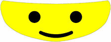 Lego Man Helmet Visor Sticker Motorcycle Yellow Shield Decal Tint
