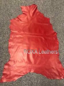 ROXA 100% Lambskin Red Hide Sheep Lamb Nappa Leather Skin 6 SqFt Premium Crafted