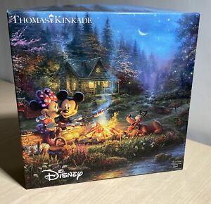"Disney 'Mickey And Minnie Sweetheart Campfire' 750 Piece Jigsaw Puzzle 24""x18"""