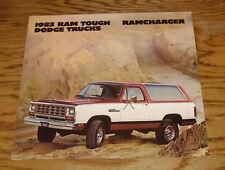 Original 1983 Dodge Ram Truck Ramcharger Foldout Sales Brochure 83