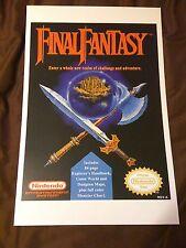 Final Fantasy 11x17 Box Art Poster - Nintendo NES No Game RPG Square -