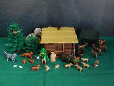 Playmobil Kleine Blockhütte II (Förster/Futterkrippe/Tiere des Waldes), o. OVP!