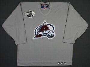 Colorado Avalanche Vintage CCM NHL Center Ice Practice Jersey XL Gray
