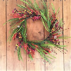 Luxury Autumn Hip Berry Wreath 45cm for Thanksgiving, Halloween and Harvest time