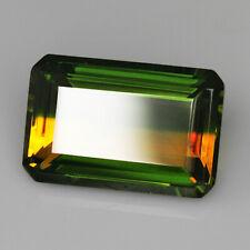 12.2Ct Man Made Bi Color Glass Yellow Green Oval Cut MQYG45