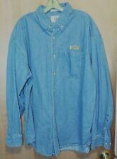 Vintage Eagle Dry Goods Authentic FOP Jean Denim Button LS Shirt XXL