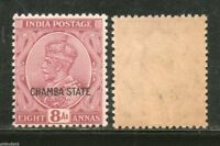 India CHAMBA State 8As Postage Stamp KG V SG 73 / Sc 57 Cat £3  MNH
