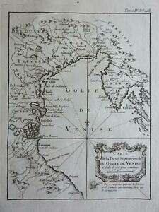 Venetian Gulf Italy Adriatic Venice Padua Urbino Ravenna Ferrara 1760 Bellin map