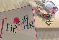 Personalised Girls big sister daughter friend charm bracelet in Gift Box